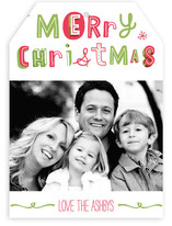 Quirky Happy Holidays Holiday Photo Cards