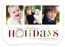 Red Holiday Holiday Photo Cards