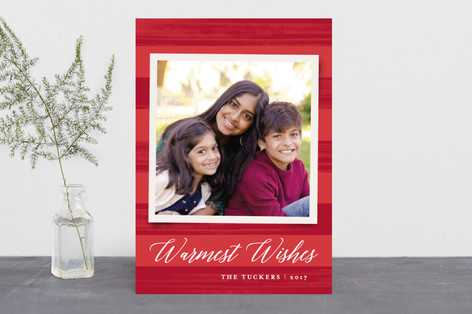 Painted Stripes Holiday Photo Cards