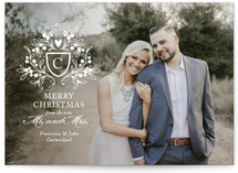 Mistletoe Crest Holiday Photo Cards By Paper Raven Minted