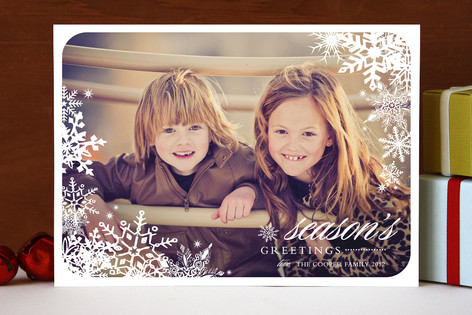 Snowflake Window Holiday Photo Cards