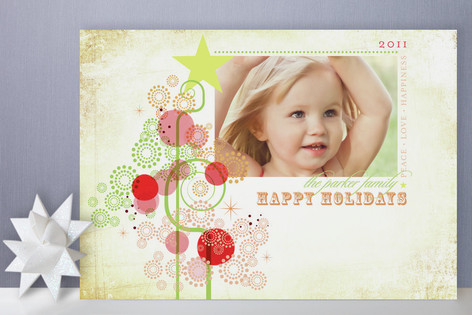 Candy Tree Holiday Photo Cards