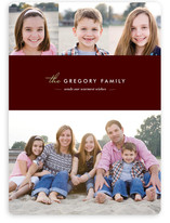Winter Chic Holiday Photo Cards