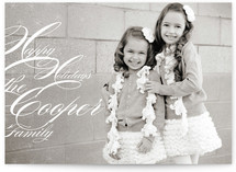 Snowflake Music Holiday Photo Cards