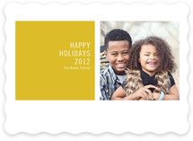 Modern Geometric Holiday Photo Cards
