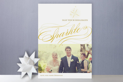 Sparkle Holiday Photo Cards