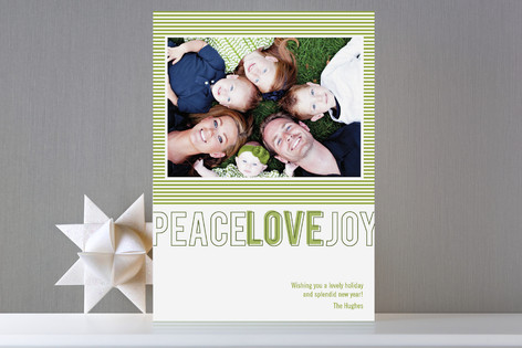 Modern Love Holiday Photo Card by Oscar+Emma