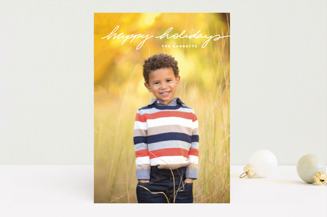 Simple Message Holiday Photo Cards