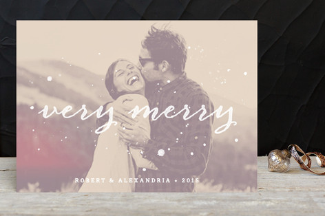 Very Merry Ink Holiday Photo Cards