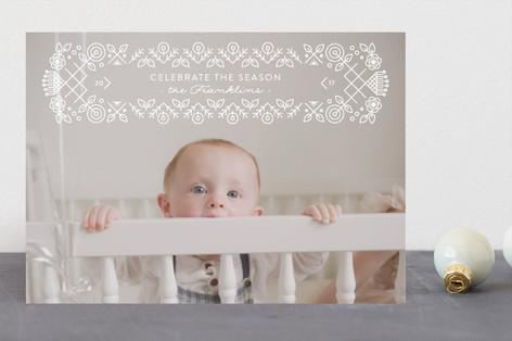 Seasonal Cross Stitch Holiday Photo Cards