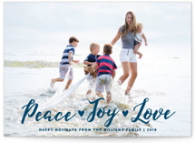 Peace Joy Love Holiday Photo Cards