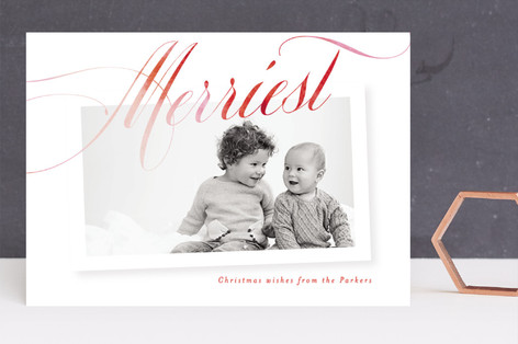 Merriest Ombre Holiday Photo Cards