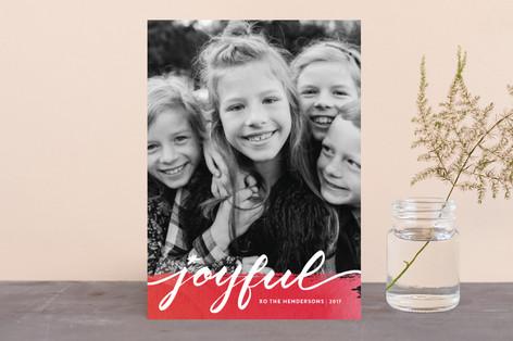 Joyful art Holiday Photo Cards
