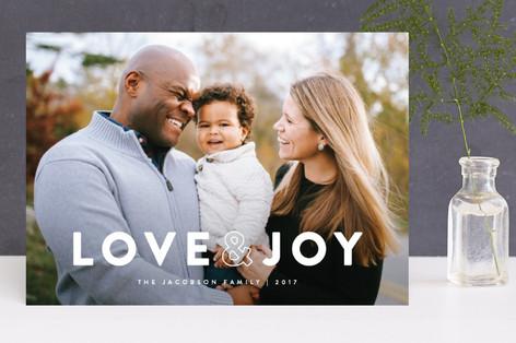 Bold Holly Holiday Photo Cards