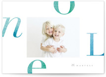Colorful Noel Holiday Photo Cards