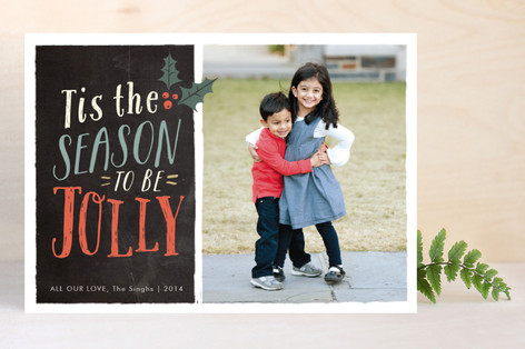 Holly Jolly Season Holiday Photo Cards