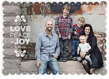 Love, Peace &amp; Joy Holiday Photo Cards