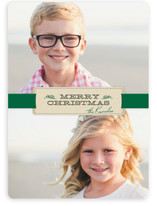 Christmas Ribbon Holiday Photo Cards