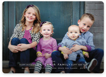 Modern Family Crest Holiday Photo Cards
