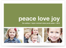 Modern Joy Holiday Photo Cards