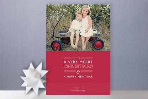 Layered Cake Holiday Photo Cards