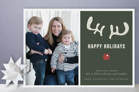 Joyeux Noel + Reindeer Holiday Photo Cards