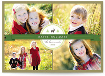 Green Ribbon Holiday Photo Cards
