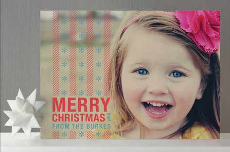 Merry Candy Stripes Holiday Photo Cards