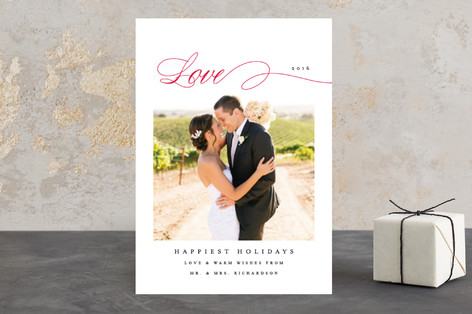 Classic Love Holiday Photo Cards