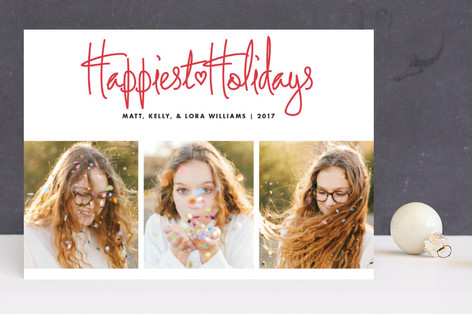 Funky Quartet Holiday Photo Cards