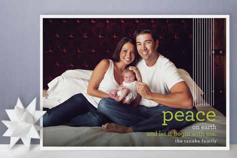 Let it Begin With Me Holiday Photo Cards