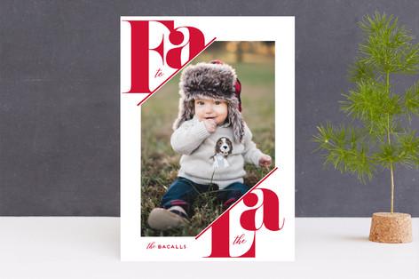Fa La Bold Holiday Photo Cards