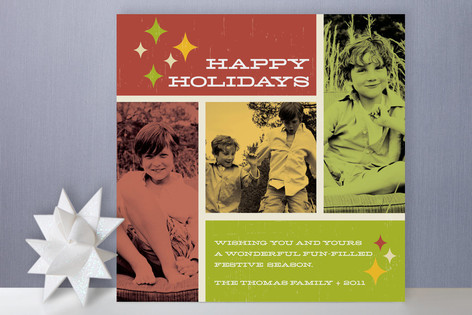 Retro Christmas Album Holiday Photo Cards