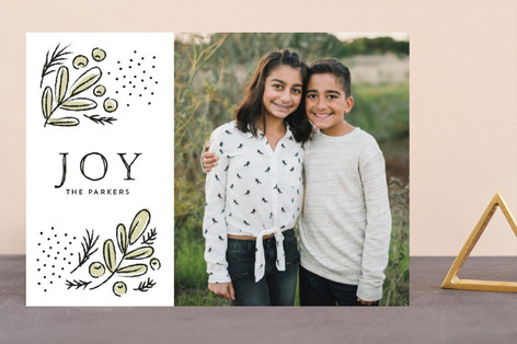 Cheerful branches Holiday Photo Cards