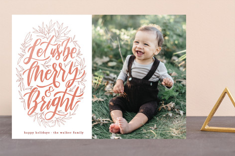 Let Us Be Merry Holiday Photo Cards