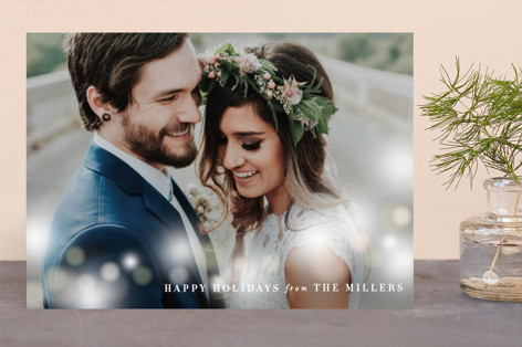 Minimalist Bokeh Holiday Photo Cards