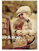 Warm Wishes Holiday Photo Cards