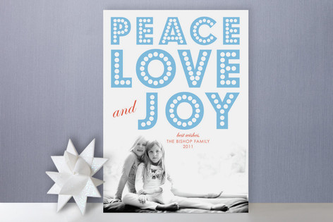 float + peace Holiday Photo Cards