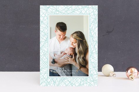 wired frame Holiday Photo Cards