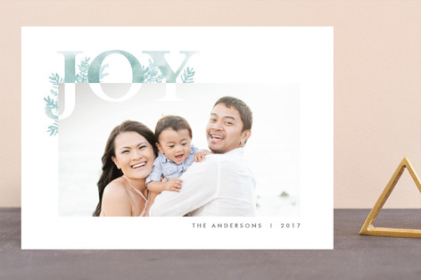 Corner Joy Holiday Photo Cards