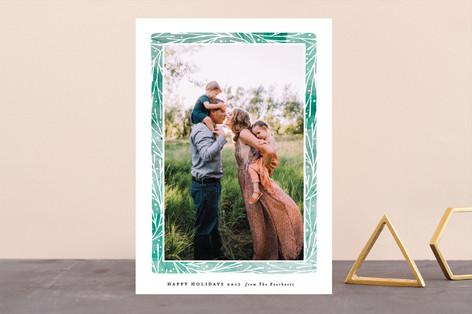 Organic Frame Holiday Photo Cards