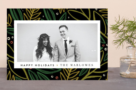 Festive Pine Holiday Photo Cards