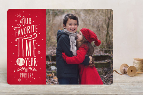 Our Favorite Time Holiday Photo Cards