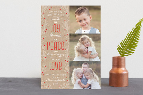 Rich In Joy Holiday Photo Cards