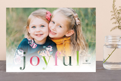 Colorfully Merry Holiday Photo Cards
