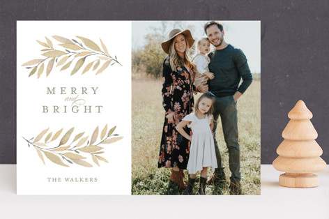 Simple Laurels Holiday Photo Cards