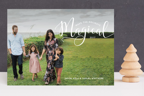 Make the Holidays Magical Holiday Photo Cards