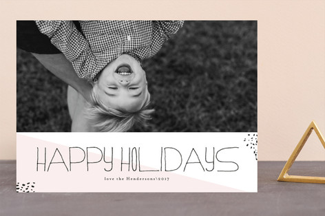 Hipster Merry Holiday Photo Cards