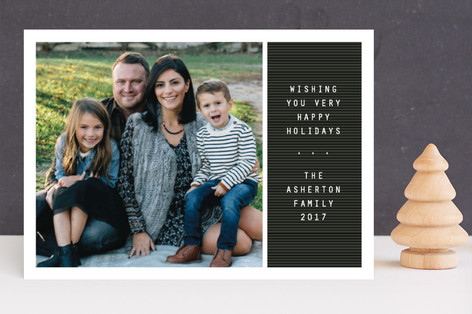 Letter board Holiday Photo Cards
