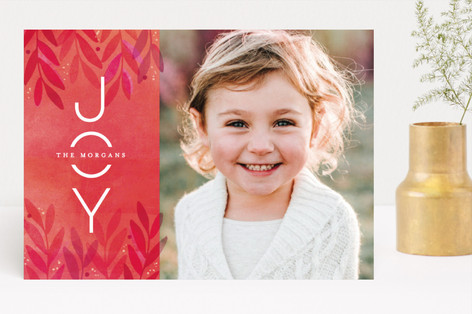 Festive Flora Holiday Photo Cards